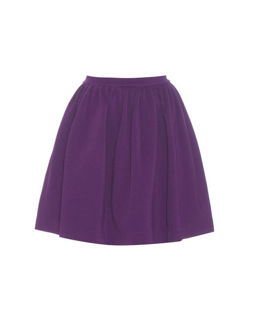 Miu Miu | Purple Ribbed Miniskirt | Lyst
