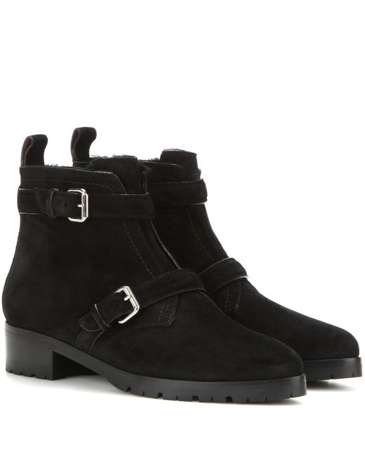 Tabitha Simmons | Black Aggy Suede Ankle Boots | Lyst