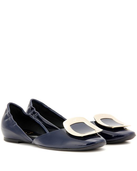 Roger Vivier | Blue Chips Patent Leather Ballerinas | Lyst