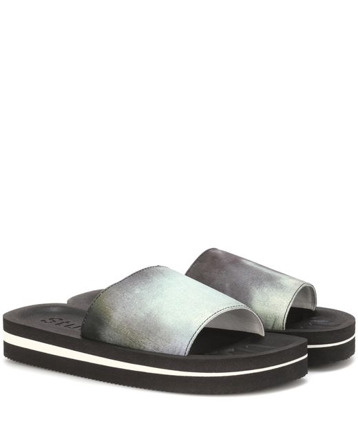 Acne | Gray Tania Slides | Lyst