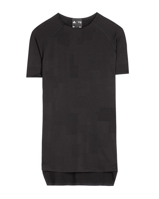 Y-3 | Black Fine Knit Top | Lyst