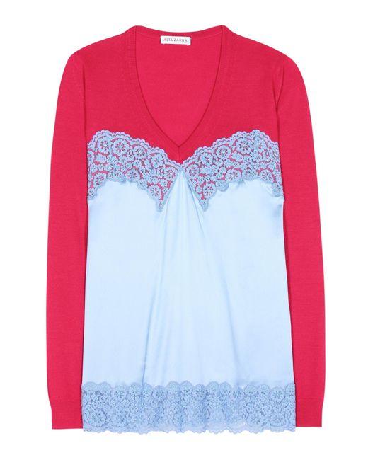 Altuzarra   Multicolor Palomar Wool And Silk Top   Lyst