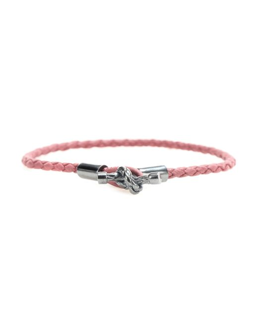 Bottega Veneta | Pink Intrecciato Leather Bracelet | Lyst