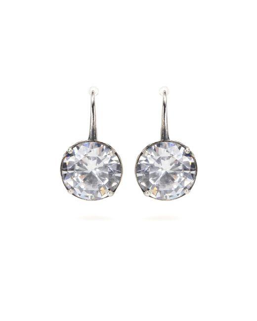 Bottega Veneta | Metallic Crystal Earrings | Lyst