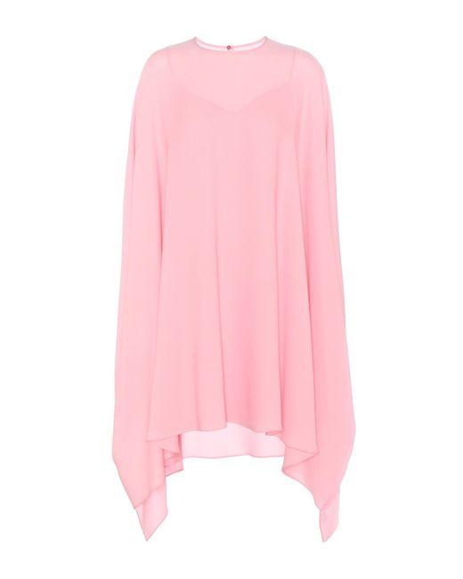 Valentino | Pink Silk Dress | Lyst