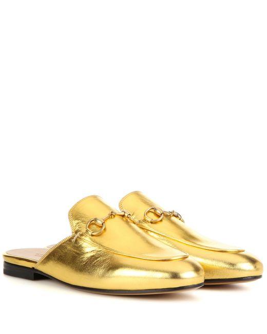 Gucci | Multicolor Princetown Metallic Leather Slipper | Lyst