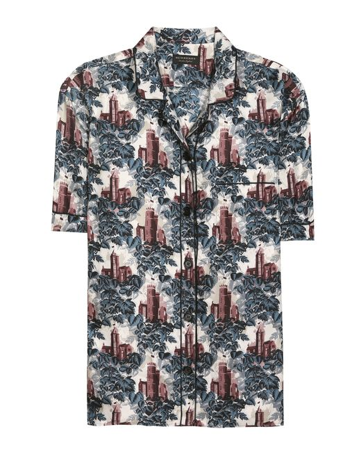 Burberry | Multicolor Mulberry Silk Pyjama Shirt | Lyst