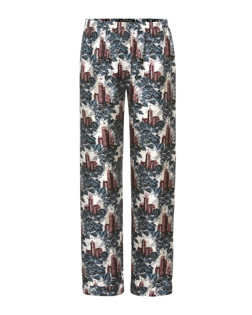 Burberry | Multicolor Cropped Pyjama Trousers | Lyst