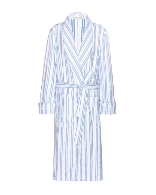 Balenciaga   Blue Cotton Robe   Lyst