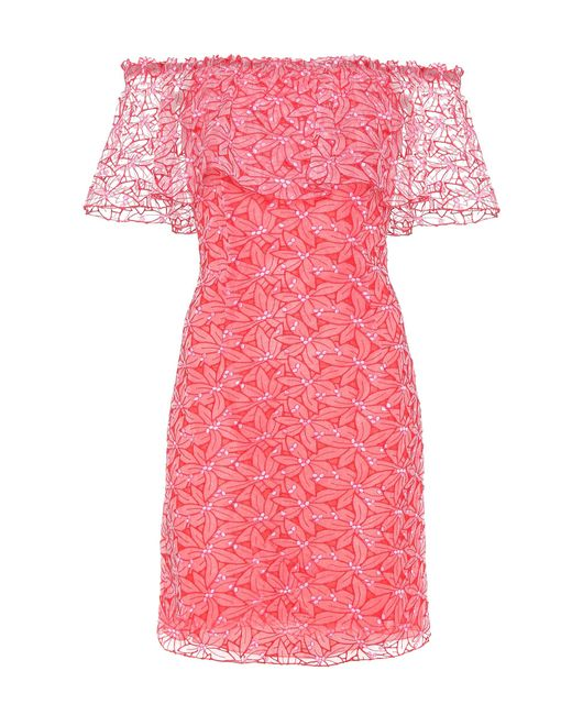 Giamba   Embroidered Organza Off-the-shoulder Dress   Lyst