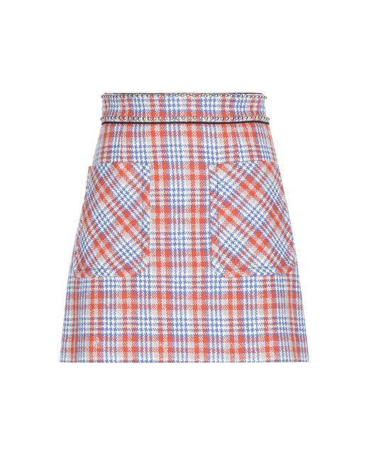 Miu Miu | Red Embellished Wool-blend Skirt | Lyst