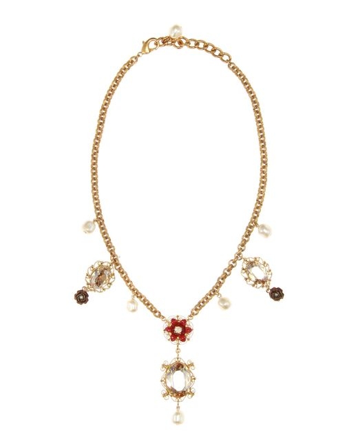 Dolce & Gabbana | Metallic Exclusive To Mytheresa. Com – Embellished Necklace | Lyst