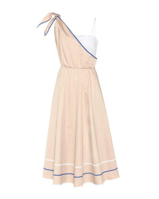 Anna October | Natural Cotton One-shoulder Dress | Lyst