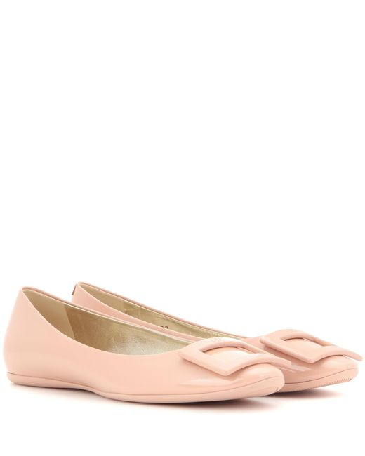 Roger Vivier | Pink Gommette Patent Leather Ballerinas | Lyst