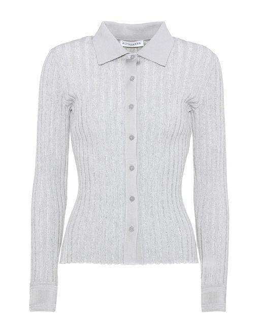 Altuzarra | Gray Campbell Cotton-blend Shirt | Lyst