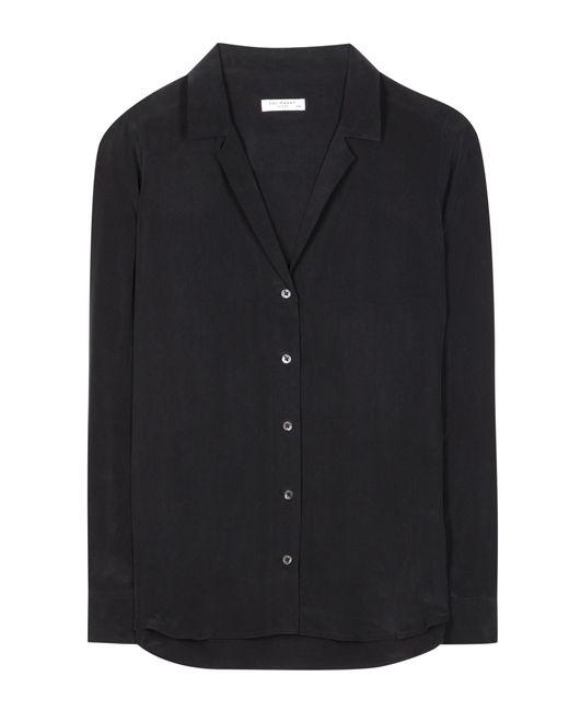 Equipment adalyn silk blouse in black lyst for Equipment black silk shirt
