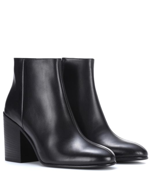 Acne | Black Beth Leather Ankle Boots | Lyst