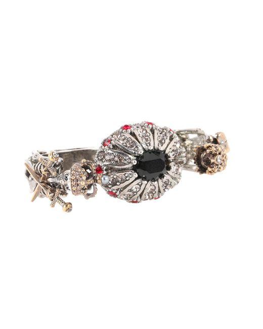 Alexander McQueen   Metallic Queen & King Multi-finger Ring   Lyst
