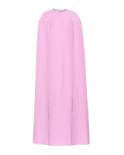 Valentino | Pink Wool And Silk Dress | Lyst