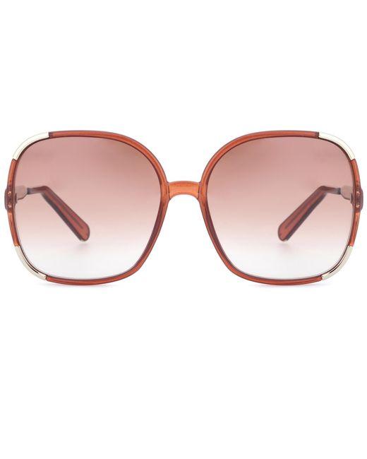 Chloé | Brown Oversized Sunglasses | Lyst