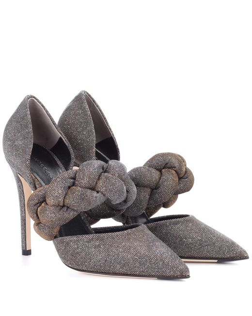 Marco De Vincenzo - Metallic Glitter Braided Pump - Lyst