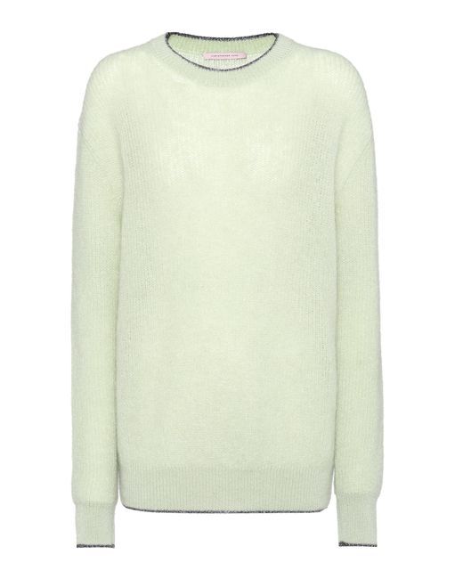 Christopher Kane - White Mohair-blend Sweater - Lyst