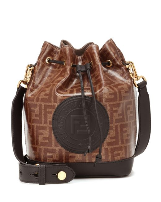 4a23e3972f Fendi - Brown Mon Tresor Bucket Bag - Lyst ...