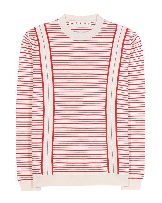Marni | White Cotton Sweater | Lyst