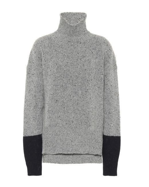 AlexaChung - Gray Wool-blend Turtleneck Sweater - Lyst