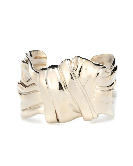Saint Laurent - Metallic Draped Bow Bracelet - Lyst