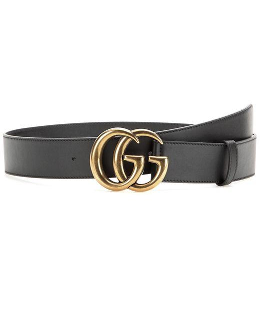 Gucci - Black Leather Belt - Lyst