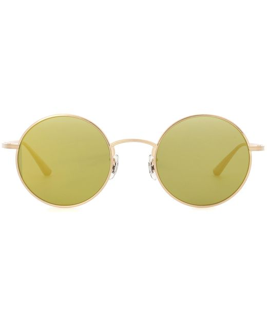 Oliver Peoples | Metallic After Midnight 49 Round Sunglasses | Lyst