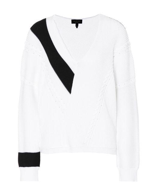 Rag & Bone - White Cricket V-neck Sweater - Lyst