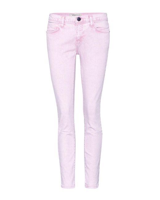 Current/Elliott - Pink Skinny Jeans The Stiletto - Lyst