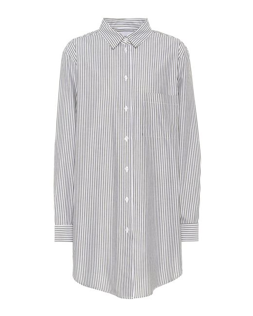 Asceno - Black Boyfriend Striped Cotton Shirt - Lyst