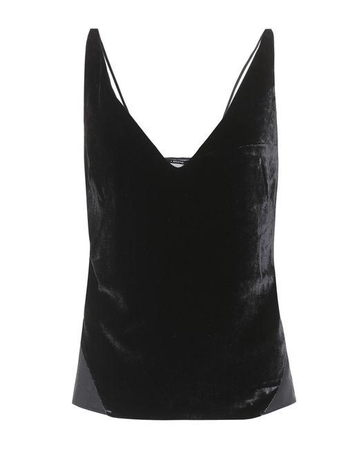 J Brand - Black Lucy velvet camisole - Lyst