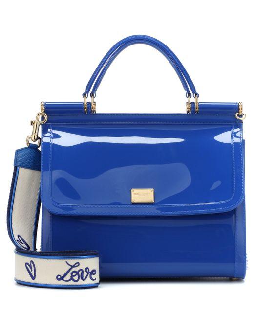 29e4799811 Dolce   Gabbana - Blue Sicily Pvc Shoulder Bag - Lyst ...