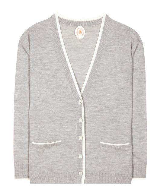 Jardin des orangers wool cardigan in gray save 40 lyst for Jardin woolens