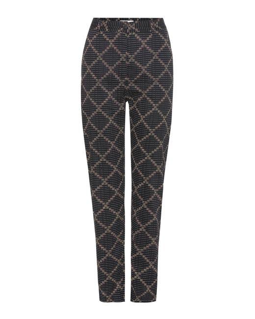 Étoile Isabel Marant - Black Janelle Printed Cotton Trousers - Lyst