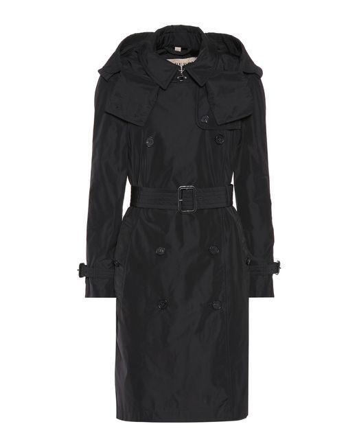 Burberry - Black Detachable Hood Trench Coat - Lyst