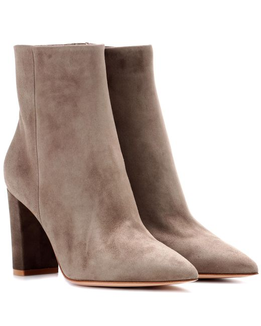 Gianvito Rossi - Brown Exclusive To Mytheresa. Com – Piper Suede Ankle Boots - Lyst