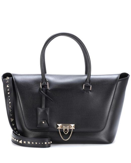 Valentino - Black Garavani Leather Shoulder Bag - Lyst