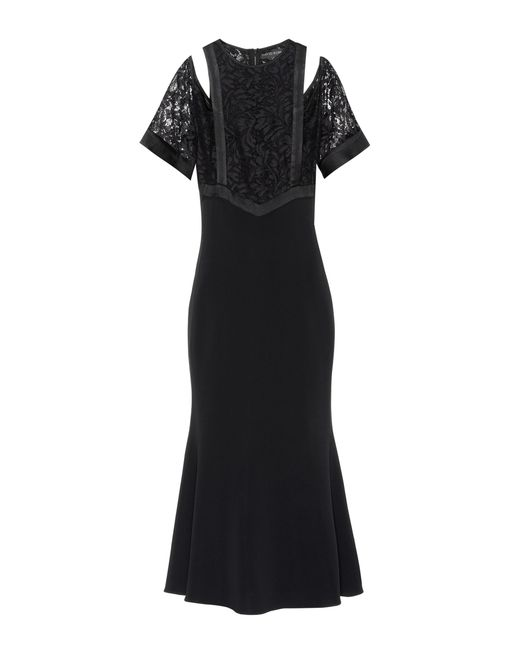 David Koma - Black Cotton-blend Dress - Lyst