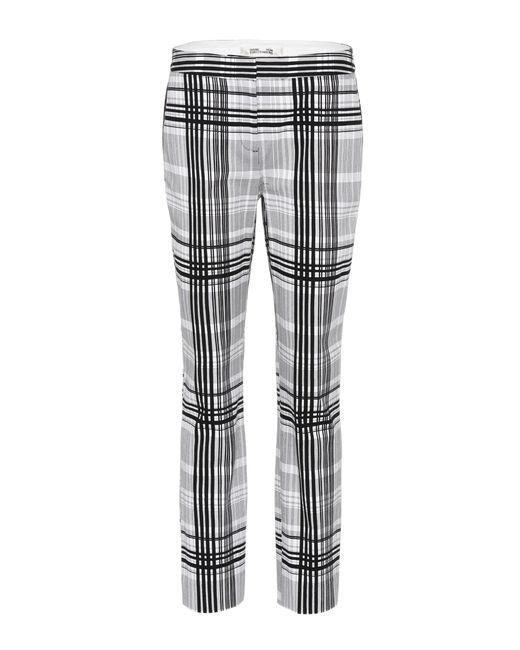 Diane von Furstenberg | Black Darnley Plaid Cotton Trousers | Lyst