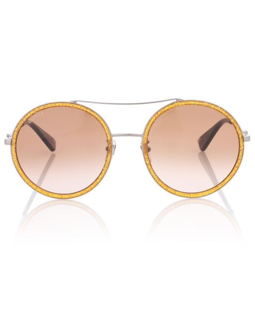 ad630019763 Gucci - Metallic Exclusive To Mytheresa.com – Round Sunglasses - Lyst ...