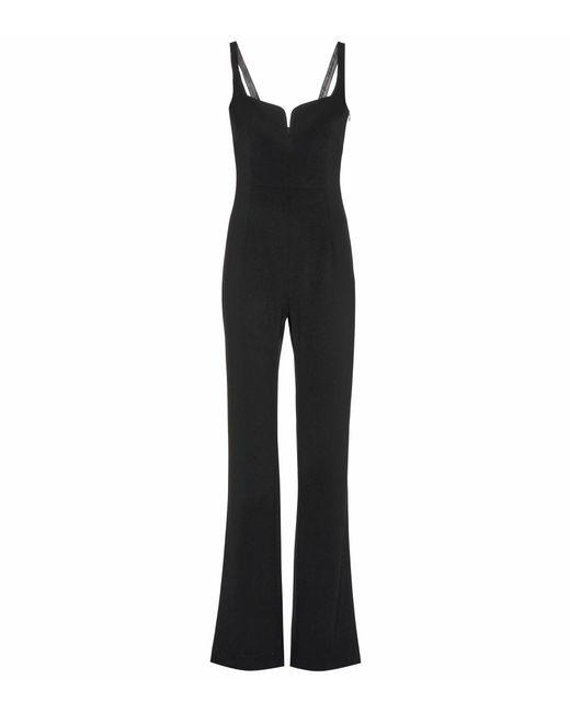 Galvan - Black Corset Crêpe Jumpsuit - Lyst
