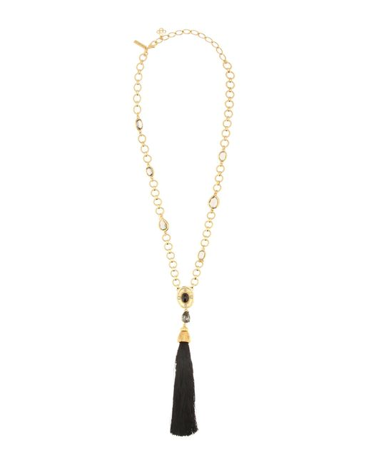 Oscar de la Renta | Metallic Crystal-embellished Tasseled Necklace | Lyst