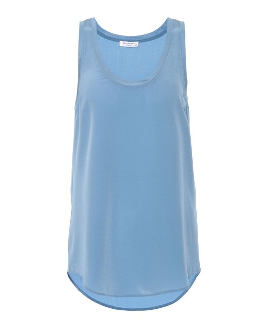 Equipment - Blue Mel Silk Tank Top - Lyst