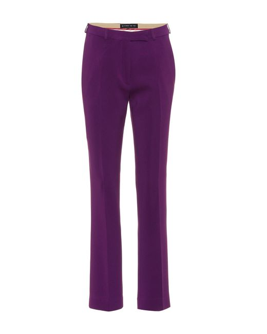 Etro - Purple Straight-leg Trousers - Lyst
