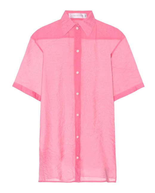 Victoria Beckham - Pink Camisa extragrande - Lyst